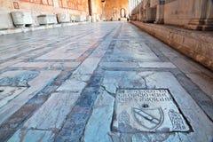 Podłoga Camposanto w piazza dei Miracoli, Pisa Fotografia Royalty Free