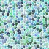 Podłoga mozaiki wzoru marmurowy bezszwowy tło z białym grout - bławym, zielony kolor Obrazy Royalty Free