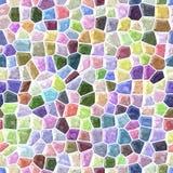Podłoga mozaiki wzoru marmurowy bezszwowy tło z białym grout - lekki chłodno pastelowego koloru widmo Zdjęcia Royalty Free