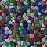 Podłoga mozaiki wzoru marmurowy bezszwowy tło z czarnym grout - ciemny wibrujący pełny widmo kolor Fotografia Stock