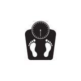 Podłoga waży stałą ikonę, ludzcy odciski stopy Zdjęcia Stock