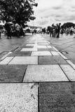 Podłogowa płytka przy Fatahillah muzeum kwadratem, Stary miasto turystyki teren/Kawasan Wisata Kot Tua obrazy royalty free
