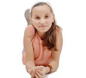 podłogowej dziewczyny łgarscy potomstwa Obrazy Royalty Free