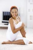 podłogowej dziewczyny żywy izbowy sporty Fotografia Royalty Free