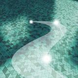 Podłogowi trójboki i szlakowy cleaning ilustracja wektor