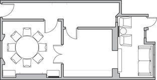 podłogowy architektura plan Obraz Royalty Free