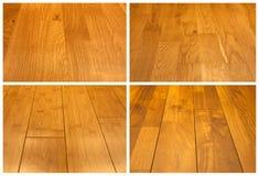 podłogowy kolażu drewno Fotografia Royalty Free