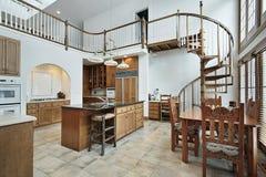 podłogowy kuchenny ampuły po drugie spirali schody Zdjęcia Royalty Free