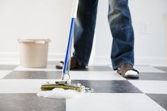 podłogowy mopping Fotografia Stock