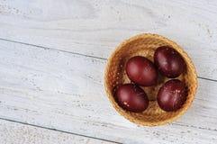 Podławi Easter jajka, odgórny widok Zdjęcia Stock