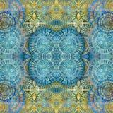 Podławy barwiony geometrical wzoru pal Zdjęcie Royalty Free