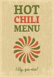 Podławy chili plakat Fotografia Royalty Free