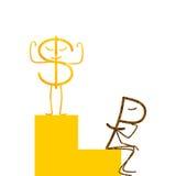 Podławy dolar i rubel Obrazy Royalty Free