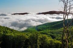 Pod cumulus chmurami Zdjęcie Royalty Free