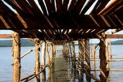 Pod część bambusa most Zdjęcie Stock