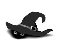 pod czarownicą kapeluszowa rzecz royalty ilustracja