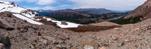 Fitz Roy widok dolinna panorama Zdjęcie Stock