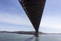 Pod Golden Gate Bridge w San Fransisco zatoce Obrazy Royalty Free