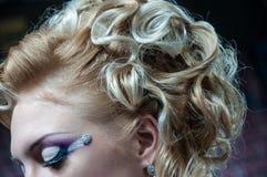 Pod makijażu oka kolorem Fotografia Stock