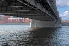 Pod mostem. Zdjęcie Stock