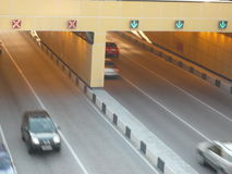 Pod mostem droga tunel Fotografia Royalty Free