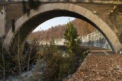 Pod mostem Fabricius w Rzym Obraz Royalty Free