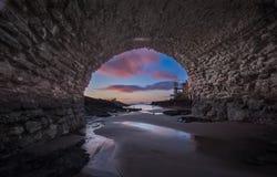 Pod mostem - latarnia morska Obraz Royalty Free