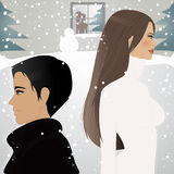 Pod śniegiem ilustracji