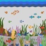 Pod oceanem ilustracji