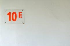 Podłoga liczba 10 w budynku biurowym Zdjęcia Stock
