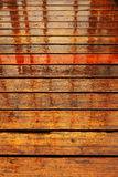podłogowego deszczu mokry drewno Fotografia Royalty Free