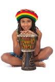 podłogowy dzieciaka rasta obsiadanie Zdjęcie Royalty Free