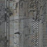 Podłogowy wystroju projekt, Deseniowy projekt, Abstrakcjonistyczny projekt Obraz Stock