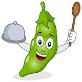 Pod of Peas Character with Tray & Spoon stock photos