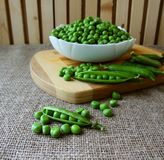 A pod of peas Royalty Free Stock Image