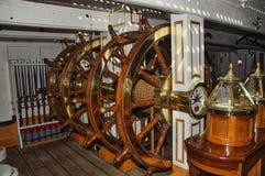 Pod pokładem na HMS wojownika Portsmouth dokach obraz stock