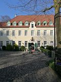 Pod Recklinghausen ` s Grodzkim słońcem fotografia stock