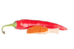 Pod of red hot chili pepper Royalty Free Stock Photo