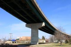 pod widok bridżowym williamstown zdjęcie stock