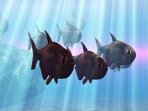 pod wodą ilustracji