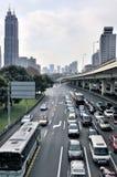 pod Yan Shanghai zasięrzutny drogowy ruch drogowy obraz stock