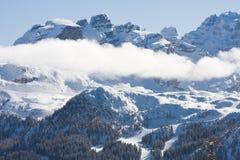 pod zima wysoka góra śnieg Zdjęcie Stock