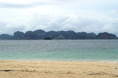 PODA在KRABI泰国的海岛海滩 库存照片