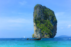 Poda海岛在Krabi泰国 免版税库存照片