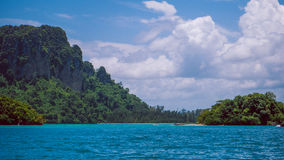 Poda island in Krabi Thailand. Some Clounds in the Sky Stock Photo