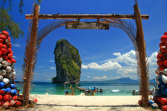 Poda island's landmark. Krabi,Thailand Stock Photos