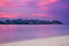 Poda Island & Sunset Royalty Free Stock Images