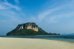 Poda. The sea andaman in krabi of thailad Royalty Free Stock Image