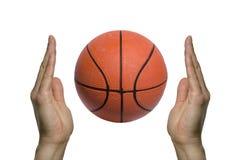 podaj dwa koszykówki Zdjęcie Royalty Free