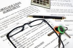 podaniowej formy pożyczki hipoteka Zdjęcie Royalty Free